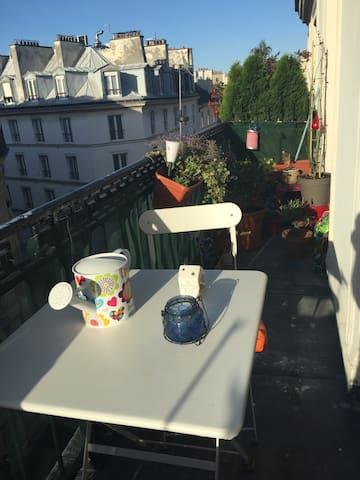 Sorbonne et Panthéon, Chambre privée avec terrasse