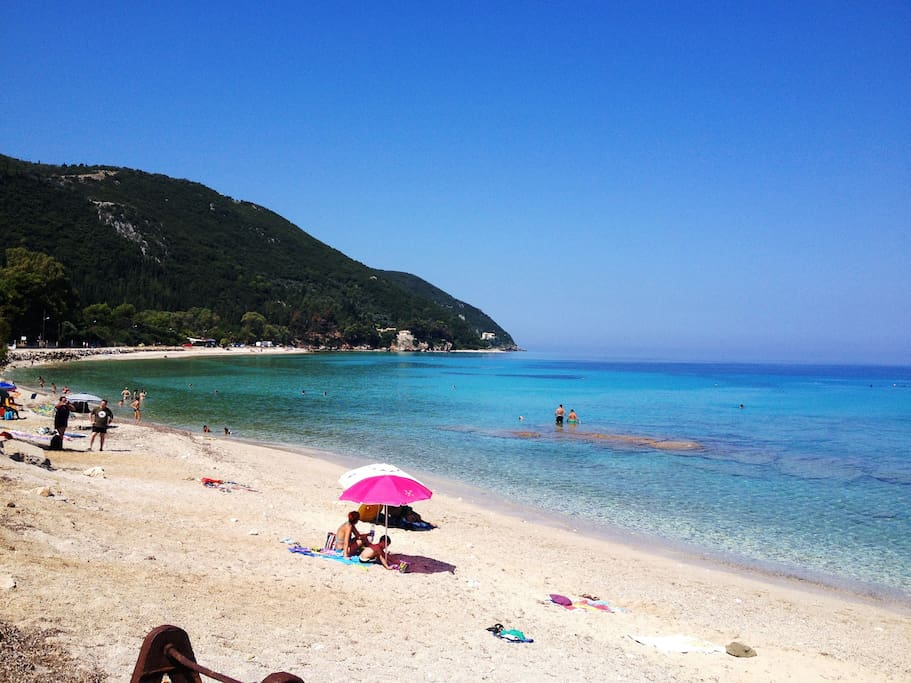 Agios Ioannis sandy beach is within walking distance (1km), with cafes & restaurants