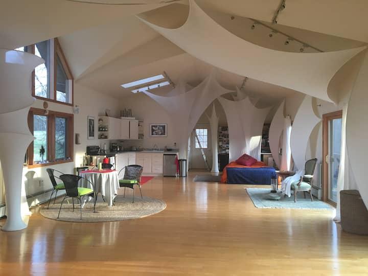 creative wonderous loft house