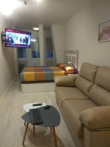 Habitación Suite para familias en el centro.