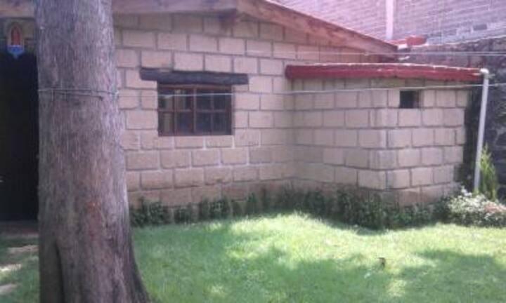 Cabin, patio & garden