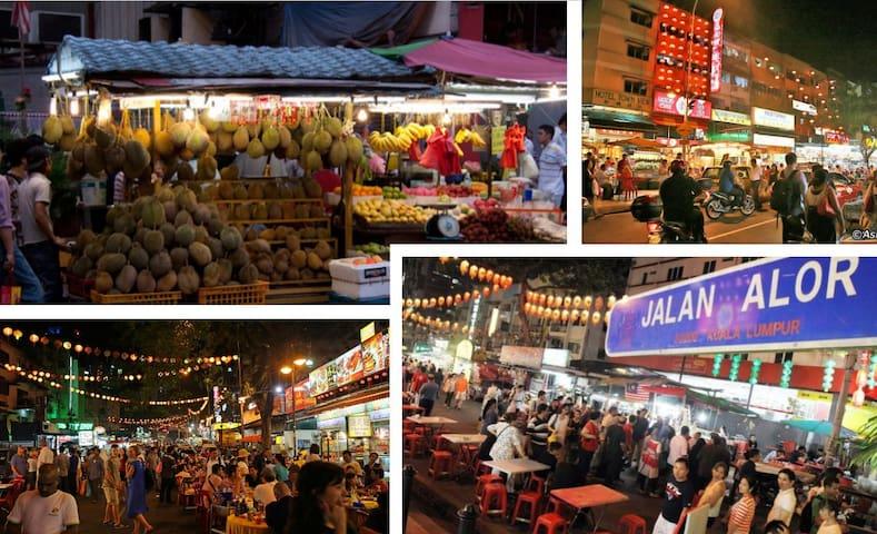 15 mins walking distance to Jalan Alor