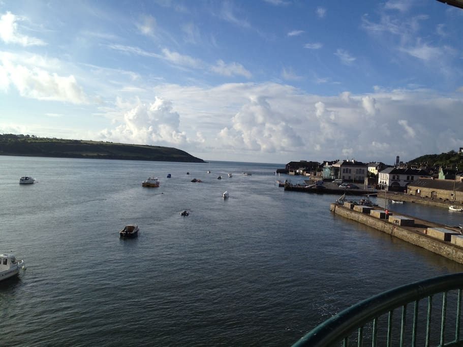 Views from the balcony of Youghal Harbour