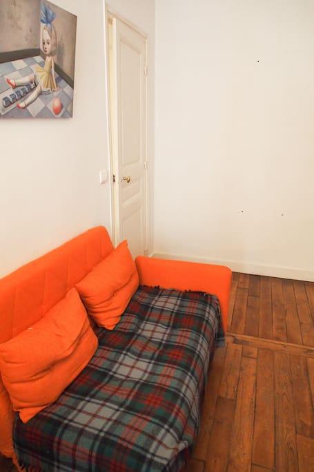 sofa in public area