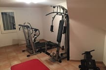 Fitness and workout area