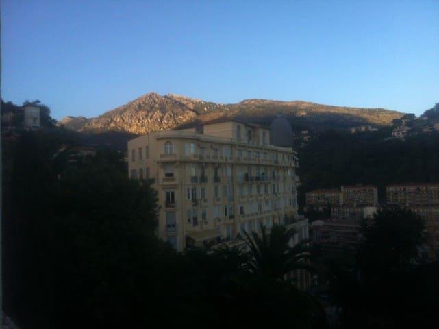 View towards the mountains