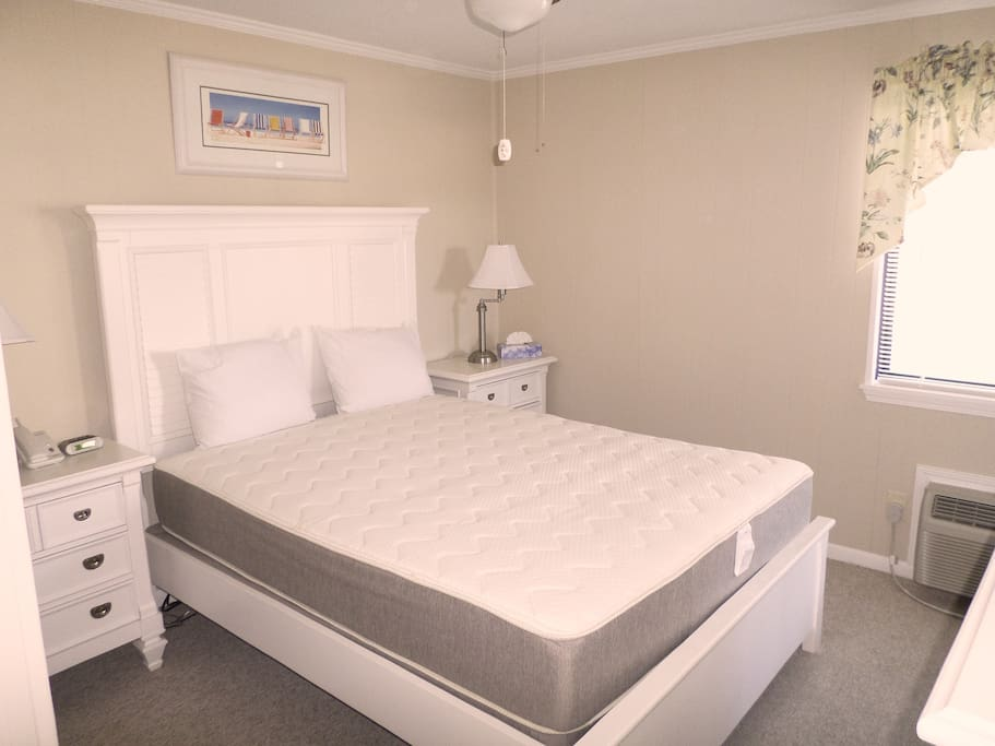 Master bedroom. All rooms are bright and airy.