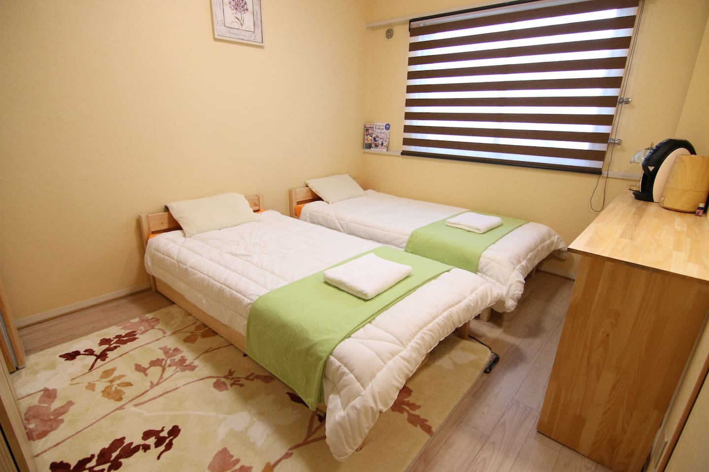 Two single beds option