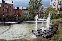 i getti d'acqua delle fontane....