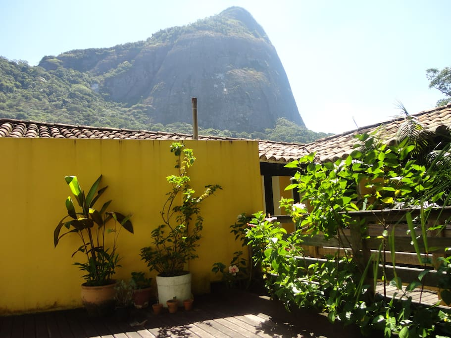 View of Pedra da Gavia from the front deck