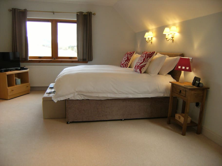 Superking size luxury beds in all rooms