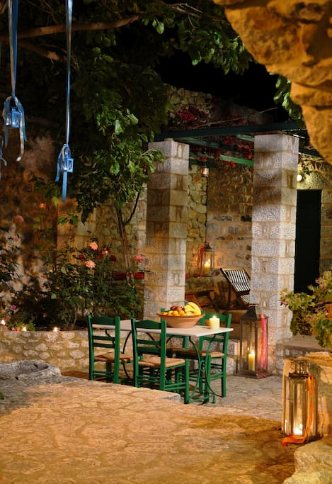 During the night the yard is your private place to be, if you wish a small escape from the town.