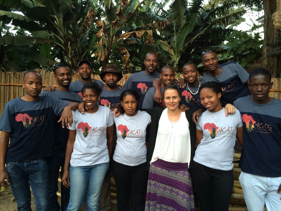 The Maisha House team, who will become your Tanzanian Family.