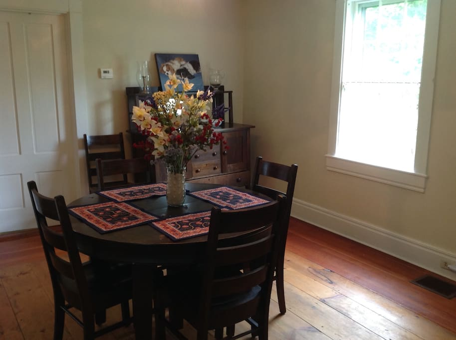 Enjoy your next meal in the dining room at 592 Partridge Cove Road. Need more seating - the table expands to seat six!