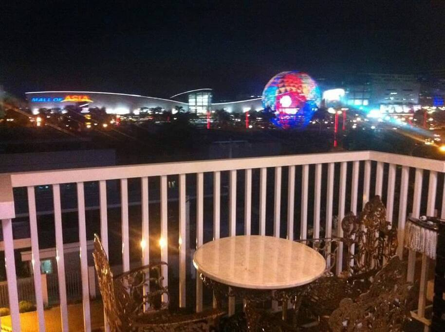 Overlooking Mall of Asia Complex at the balcony