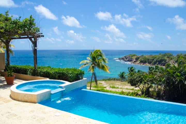 Astonishing Oceanfront Villa with the Best View in Palmas, Pool, Spa and Every Modern Amenity (SC58) - Humacao - House