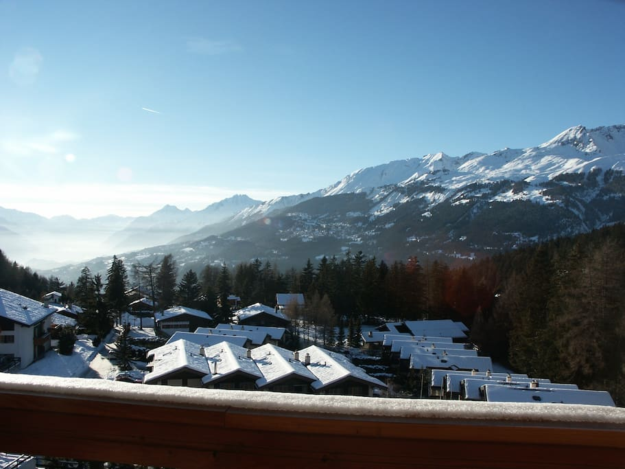Winter view of the Alps from Balcony