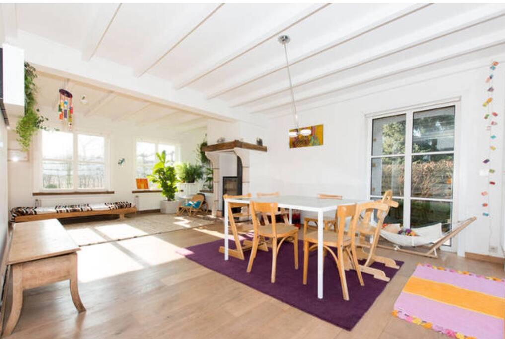Large kids' friendly living room