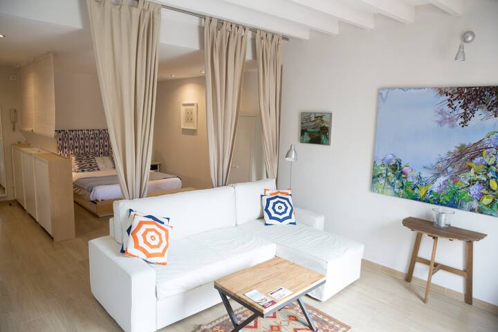 cosy living room and bedroom