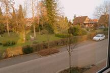 the view - very green & lots of parking space