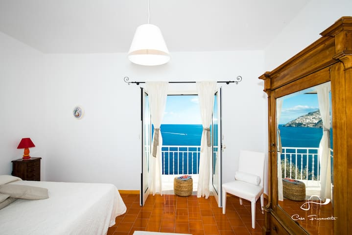 Double room with amazing sea view - Positano - Dom