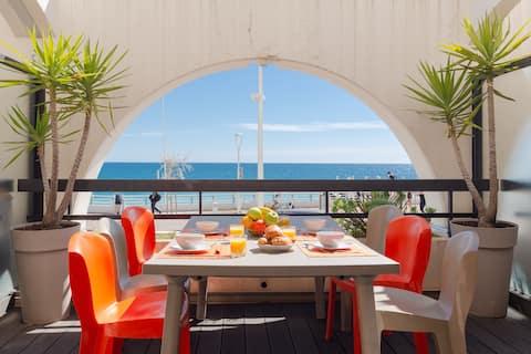 ❤️Amazing sea view Cannes center❤️