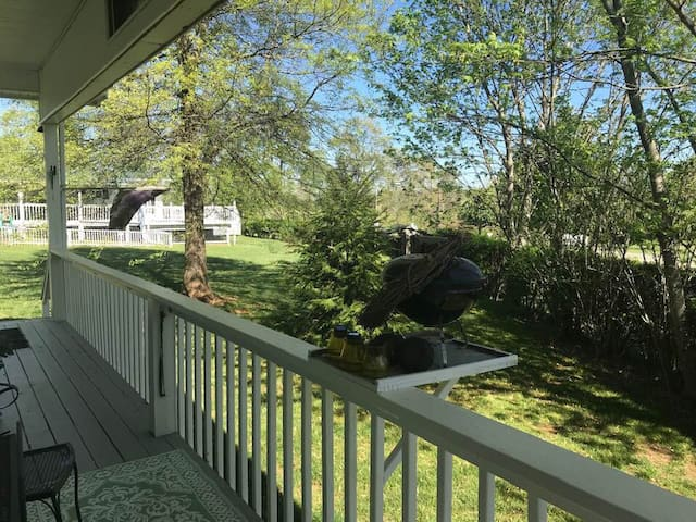 Front porch is a peaceful place to sit.