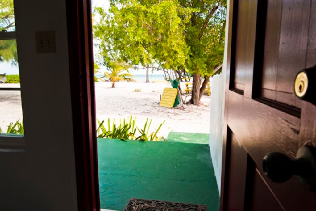 Back door access to miles of white sand beaches!