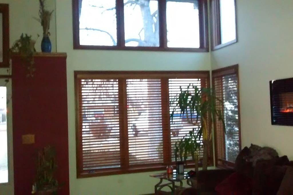Warm and sunny livingroom view