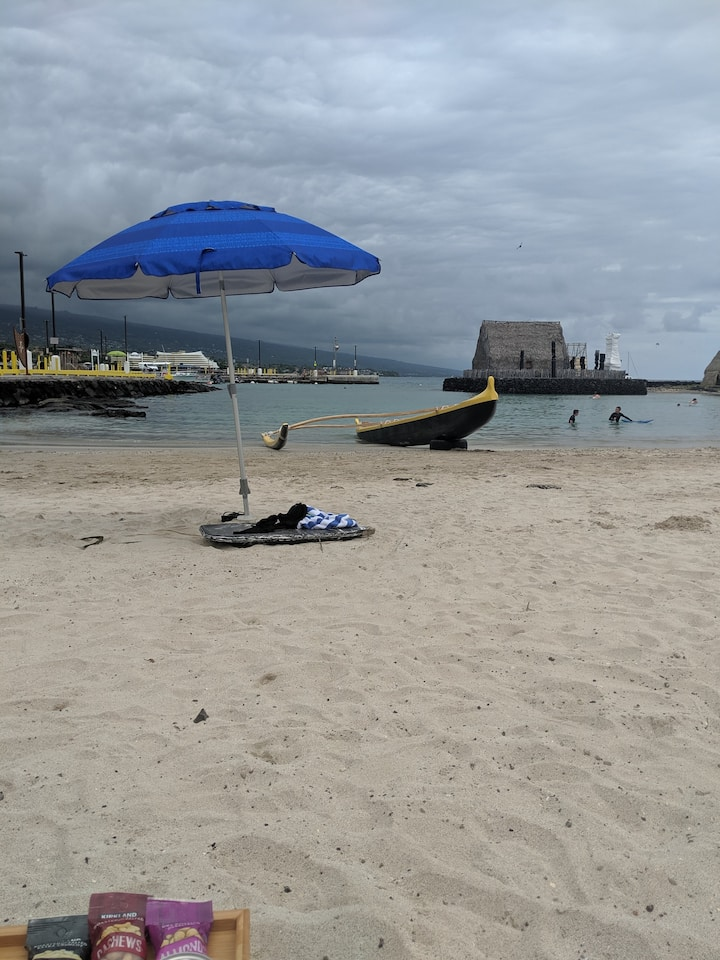 A classic: outrigger on a sandy beach