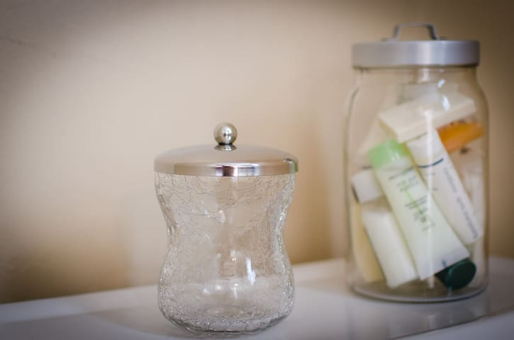 Just in case you forget, we kept all the complimentary shampoos and soaps from our travels...here they are just for you.