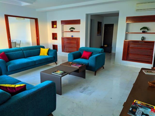 Appartement nouveau et paisible à Gammarth