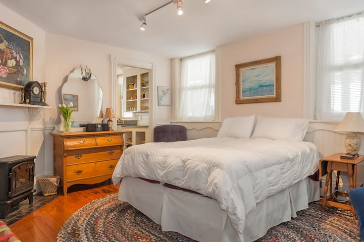 Airbnb Professional Photo Taken w/ wide angle lens. Rooms may appear bigger. Queen sized bed