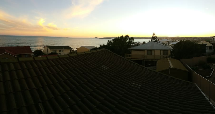 Night view down to coast to Victor Harbour