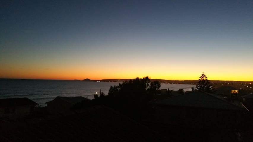 Spectacular sunset views from the balcony