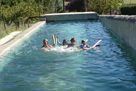 Gîte avec piscine, 11 pers, Drôme - Mirmande - Haus