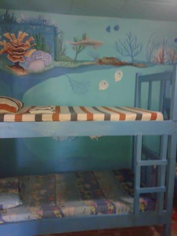"South Beach Hostel ""Room 1"" - Bocas del Toro Province - Yatakhane"
