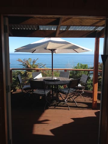 Tairawhiti -wild ocean views, cosy, warm, private