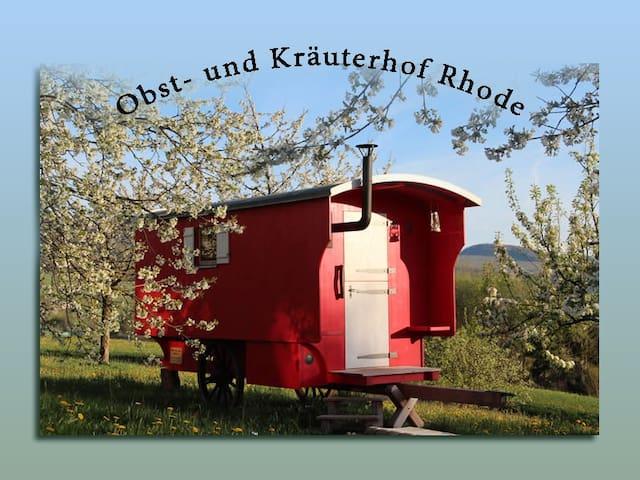Schäferwagen auf dem Obst- und Kräuterhof Rhode