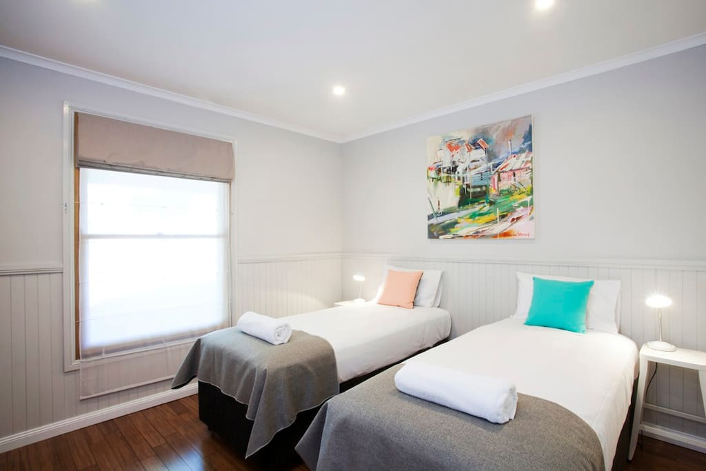 Twin Bedroom - can be configured as king size bed.