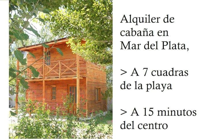 ALQUILER CABAÑAS EN MAR DEL PLATA, CERCA DE PLAYA