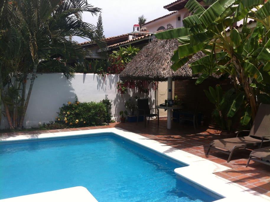 Palapa area on the pool