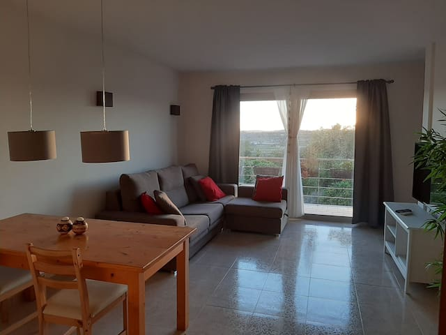 Spacious apartment with views in a quiet town