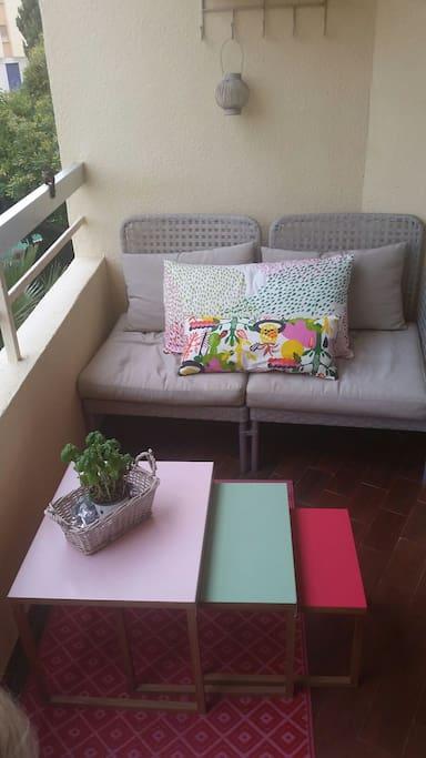 Liten veranda