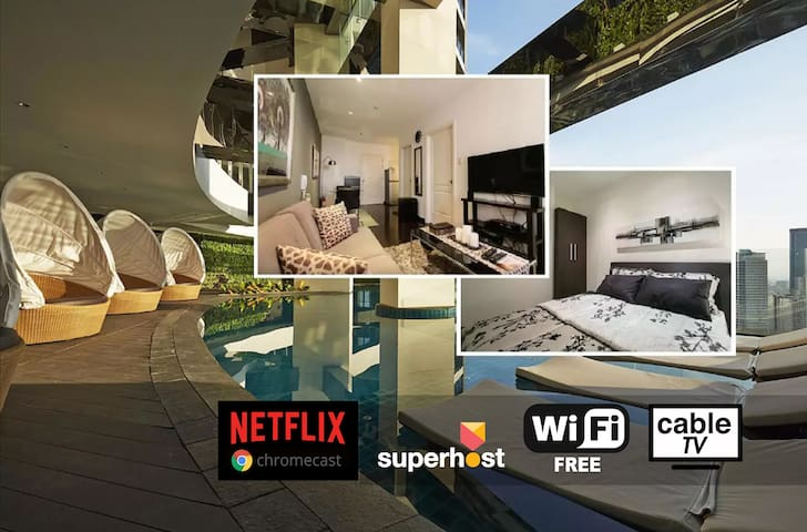 Cozy Gramercy Makati 1BR 59F Fast WIFI Great View