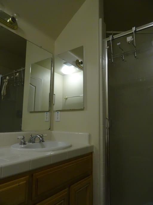 clean full private bath