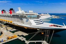 Disney cruise at Port Canveral.