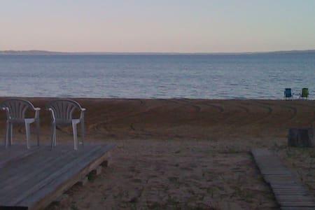 150' of Private sandy beach - W Bay