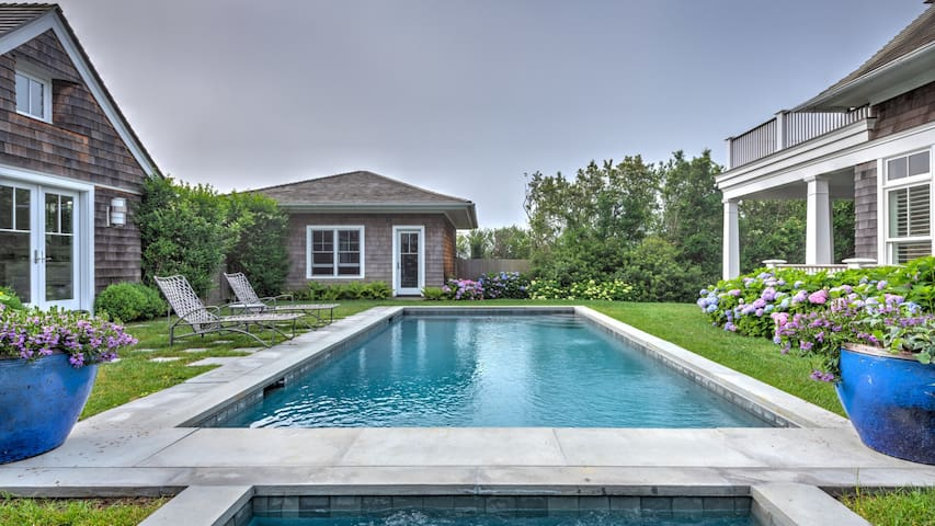 New Listing: Ocean Views, Professionally Landscaped, Screened-in Porch, Guest Cottage and Pool House, Close to Hither Hills Beach and Downtown Montauk