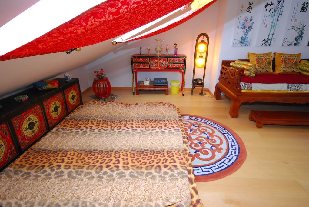 our comfortable bed for a couple or two small kids very safe